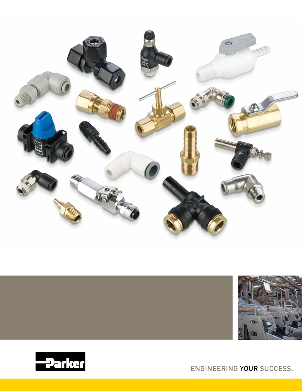 Parker W68PLPSP-4-4 Composite Push-to-Connect Fitting Plug-in Stem and NPT Standpipe 1//4 Tube to Pipe